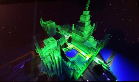 Emerald-city-minecraft-night