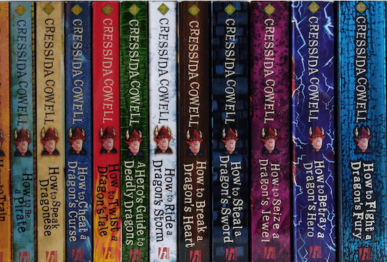 children's chapter book series how to train your dragon on bookshelf a great kids chapter book series