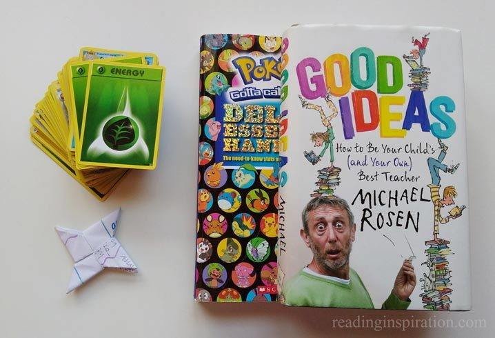 Pokemon-cards-Pokemon-handbooks-Michael-Rosen-Good-Ideas-Supporting-children-with-reading-browsing-books-reluctant-readers-photo-by-Reading-Inspiration-post