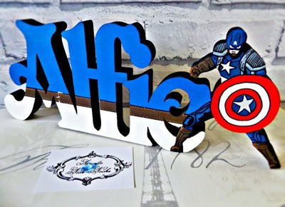 Captain-America-inspired-name-block-personalised-Marvel-gift-by-AuntieNickNocks-Etsy