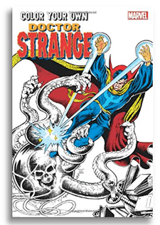 cover-of-Colour-your-own-Dr-Strange-Marvel-colouring-book-image-from-Forbidden-Planet