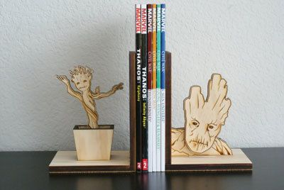 Groot-Guardians-of-the-Galaxy-woodcut-bookend-MokuShop-etsy