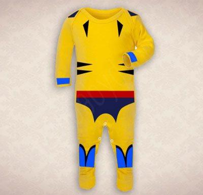 Wolverine-inspired-yellow-Marvel-baby-costume-onesie-BabyDapper-Etsy