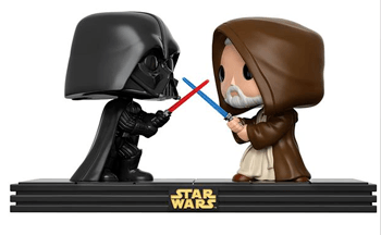 Star-Wars-Pop-Vinyl-sale-Funko-Darth-Vader-and-Obi-Wan-Kenobi-light-saber-battle