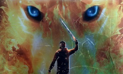 Detail from cover art - Magnus Chase book 1 - The Sword of Summer