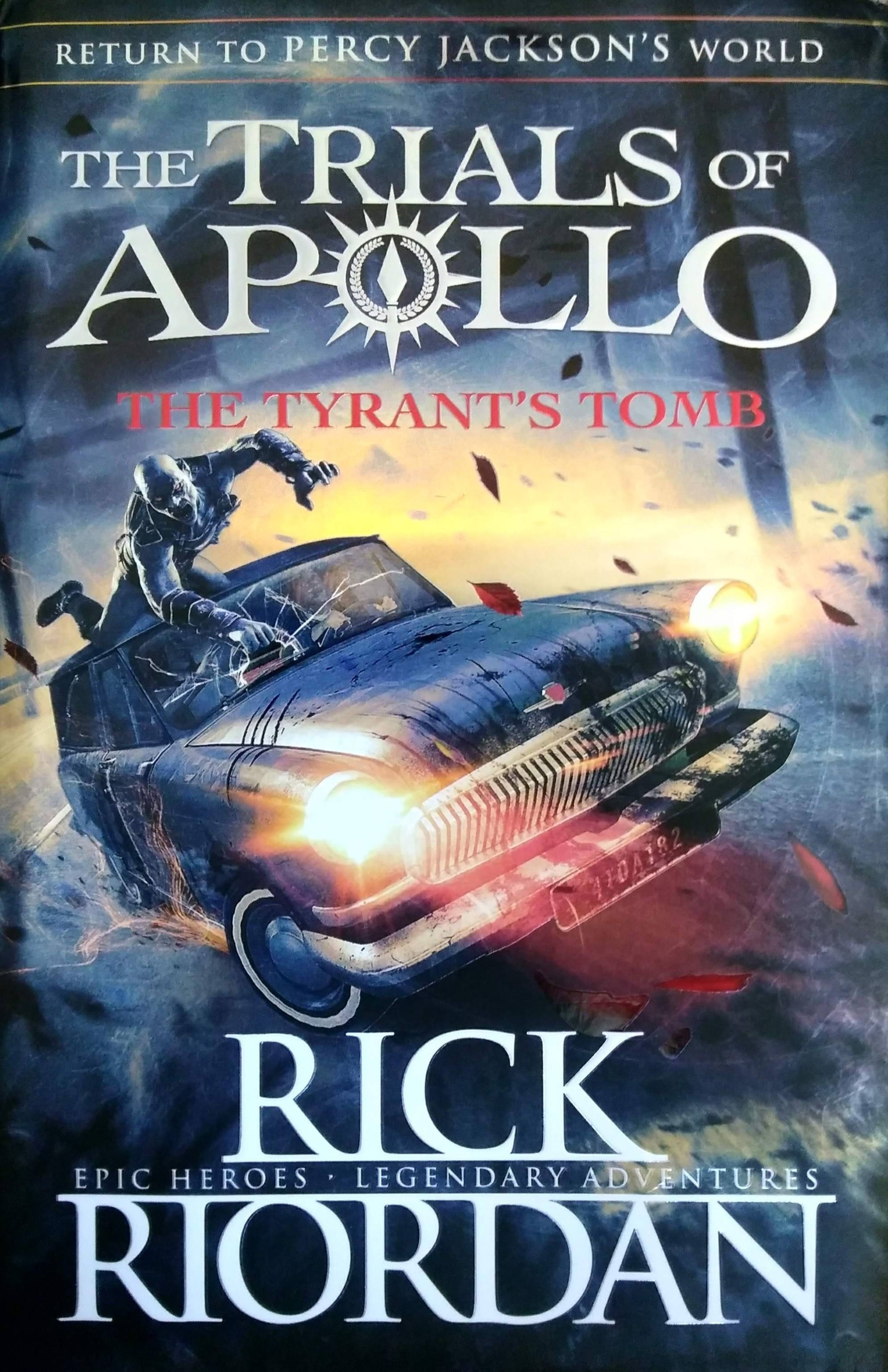 Rick Riordan Trials of Apollo - Cover of latest Rick Riordan book - The Trials of Apollo: The Tyrant's Tomb - feature image for full guide to Rick Riordan series in order - Rick Riordan all books