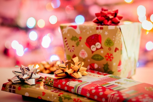 wrapped christmas gifts including christmas books for children