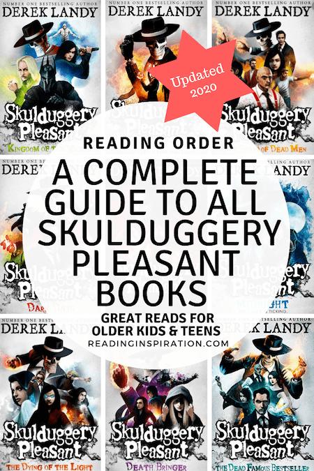 complete guide to Derek Landy Skulduggery Pleasant books