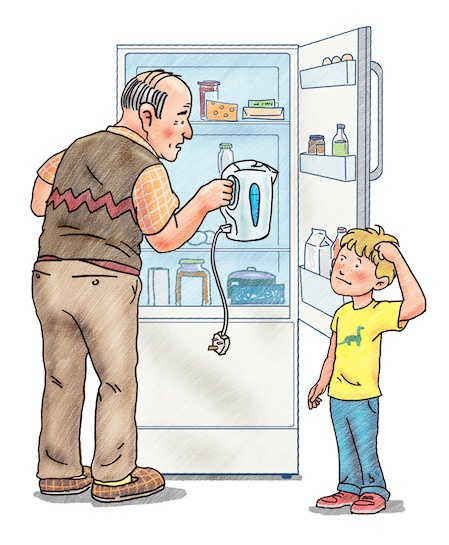 Illustration from I Love My Grandpa