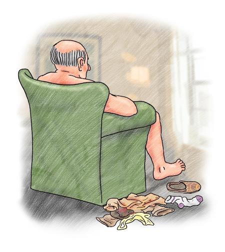 Illustration from I Love My Grandpa children's books about dementia